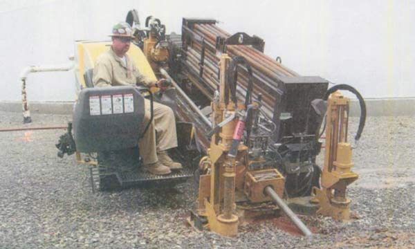 Cliff Kennedy operating a horizontal directional driller